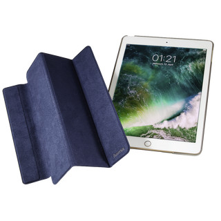 Hama Tablet-Case Suede Style für Apple iPad 9.7 (2017/2018) Dunkelblau